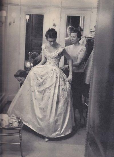 Vintage Brides Yves Saint Lau For Dior Gown 1958