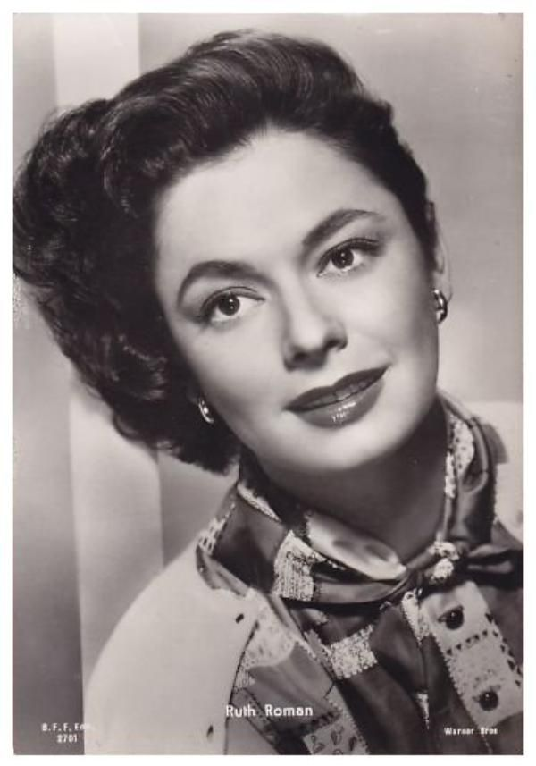 Ruth ROMAN (1923-1999) * AFI Top Actress nominee > Active 1943-89 > Born Norma Roman 22 Dec 1924 Massachusetts > Died 9 Sept 1999 (aged 76) California > Spouses: Mortimer Hall (1950–56 div); Bud Burton Moss (1956–60 div); William Ross Wilson (1976–99 div) > Children: 1. Notable films~ Strangers on a Train; The Window; The Far Country; Day of the Animals; Starlift