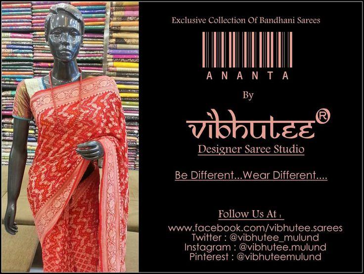 Bandhej = Forever Fashion Only AT Vibhutee Designer Sarees Studio  #Weddingseason #WeddingFashion #IndianFashionBlogger #indianBlogger #BlogFest #India #saree #Sari #Designer #mulund #mumbai #BestStoreToBuySaree #OutfitOfTheDay #Outfit #Shopping #Shop #onlineshopping #WeddingDiaries #WeddingOutfit #Bollywood #BollywoodStyle #MadeinIndia #makeinindia #WeddingScenes #WeddingDiaries #OnlineShopping #IndianWedding #Bandhani