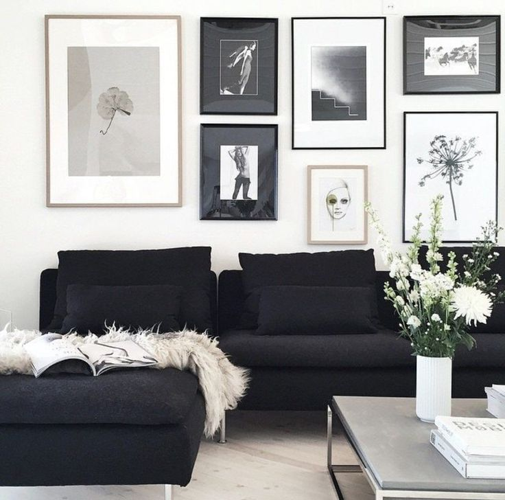 Best 25+ Black couches ideas on Pinterest | Black couch decor ...