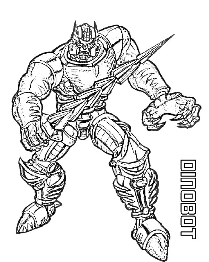 Dinobot Transformers Beast Wars Coloring Page Print Out Or Color