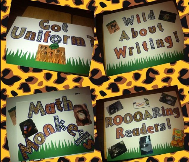 Signs for the centers… Used real life photos of animals in the wild..Images mo…