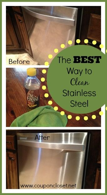 How to Clean Stainless Steel with very little work This is my favorite trip to keep my kitchen looking great.   http://www.couponcloset.net/how-to-clean-stainless-steel/