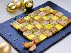ciboulette, pain d'épice, fleur de sel, mangue, foie gras, ail, raisins secs, sucre roux, vin blanc