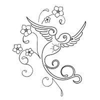 TATTOO TRIBES - Dai forma ai tuoi sogni, Tatuaggi con significato - passero, nontiscordardime, non ti scordar di me, amore, perdono, ricordo, fiori, viaggio, ritorno