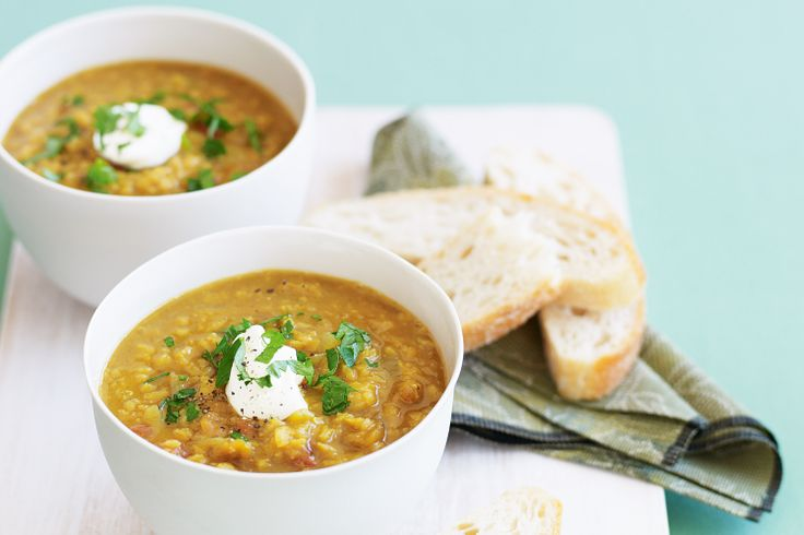 This spicy lentil soup will warm you up from the top of the head to the tips of your toes.