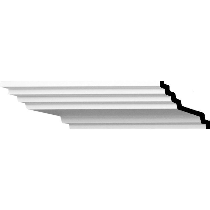 """1 3/4""""H x 4""""P x 4 1/2""""F x 94 1/2""""L Adonis Traditional Smooth Crown Moulding - 16.5"""