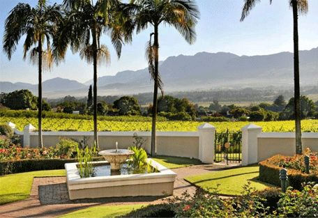 www.sunsafaris.com #Grande #Roche #Hotel #exterior #garden #south #africa #cape #town #views #paarl