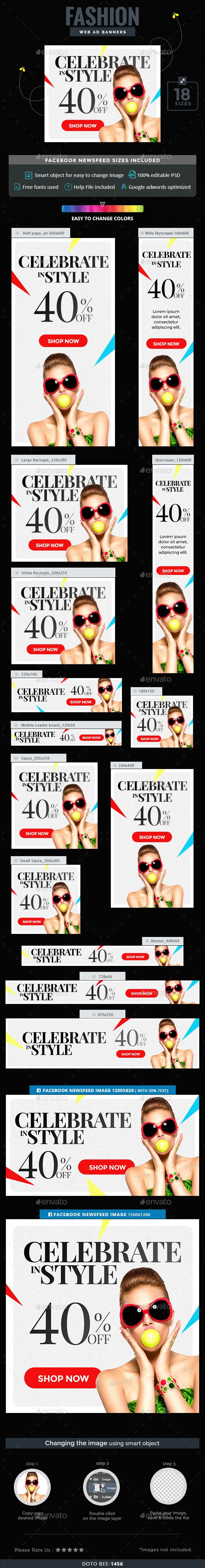 Fashion Web Banners Template PSD. Download here: http://graphicriver.net/item/fashion-banners/16535404?ref=ksioks