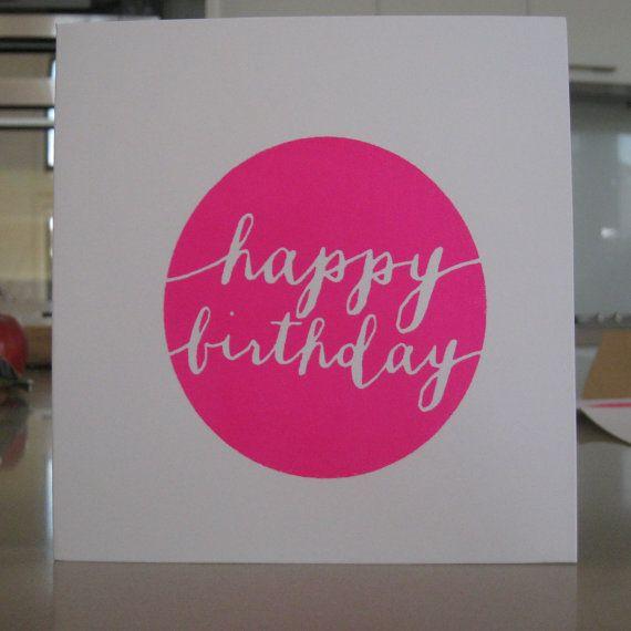 Happy Birthday  Screenprint Greeting Card by LifeStyledByNManks