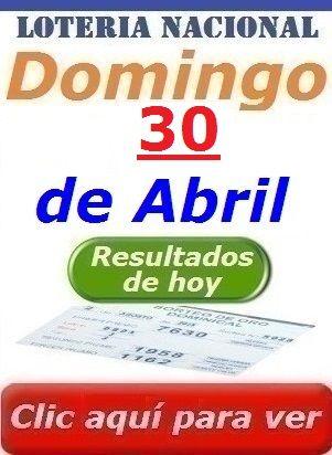 Resultados Sorteo Domingo 30 de Abril de 2017 Loteria Nacional de Panama