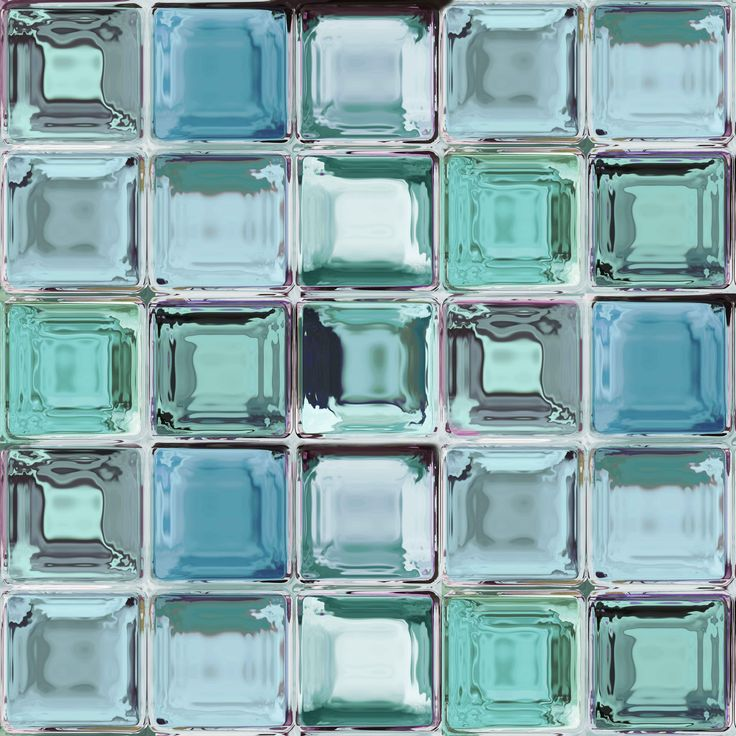Contour Aurora Wallpaper From B Q: Contour Blue Glass Brick Kitchen & Bathroom Wallpaper