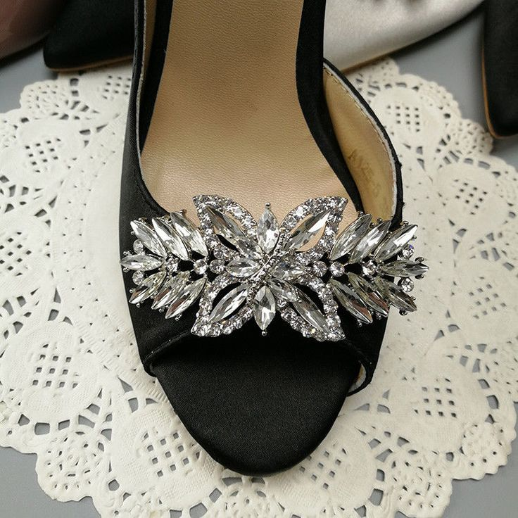 A Pair of Rhinestone Crystal Vintage Fashion Ladies Shoe Clips #Unbranded #WeddingPartyChristmasPartyAnyParty #ShoeClipsShoeDecorations