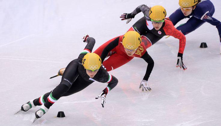 campeonato de SOCHI 2014 carreras sobre el hielo hombres