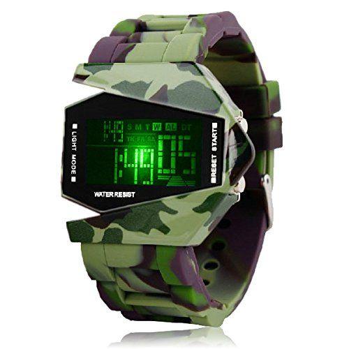 Silikon LED LCD Uhr Digital Armbanduhr Herren Damen Fliegeruhr Camouflage Militär Military Trend Gummi Unisex Sport camouflage - http://uhr.haus/autiga/silikon-led-lcd-uhr-digital-armbanduhr-herren-4