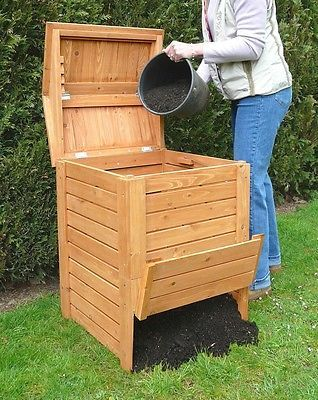 potting shed drawer pulls | ... Wooden Beehive Composter Recycling Storage Potting Garden Furniture
