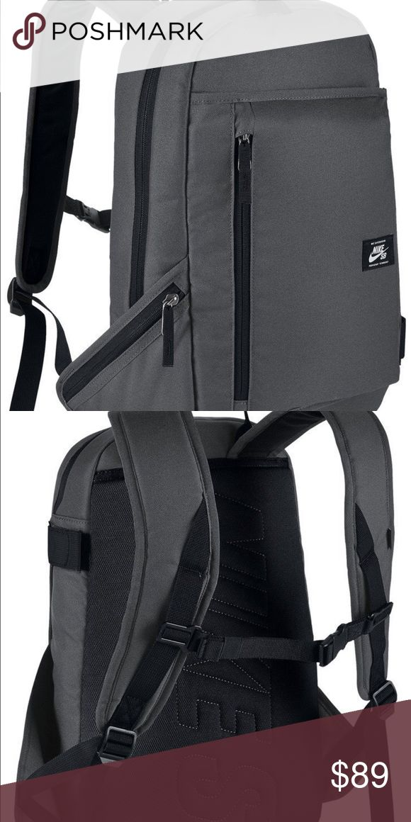 Nike SB Skateboarding Backpack Men's Nike SB Shelter Skateboarding Backpack is a skateboard-specific bag with all the storage you need, complete with a padded back panel for maximum comfort. 600D polyester fabric for long-lasting durability. Skateboard carrying system offers secure storage for equipment. Padded back panel provides a comfortable fit. Adjustable shoulder straps create a custom fit. Internal sleeve provides secure storage for a laptop. 100% polyester. Nike Bags Backpacks