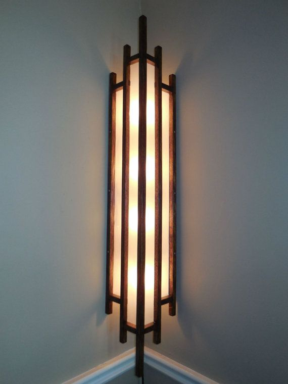 corner lighting screen space art deco lamp solid oak corner lamp is an alternative to floor lighting