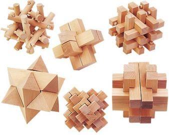 Seis rompecabezas de madera |                                                                                                                                                      Más
