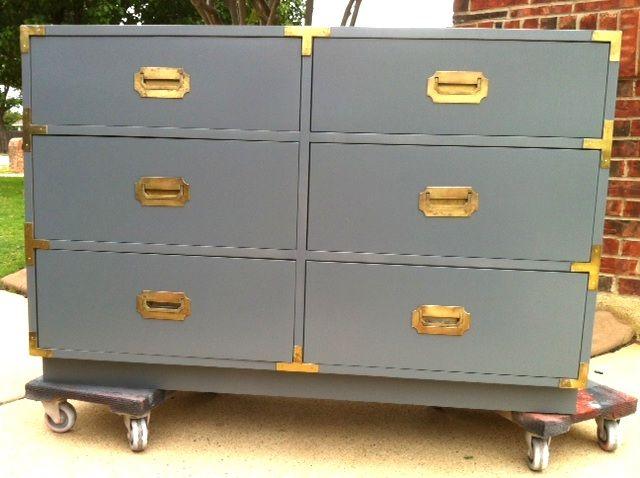 Dixie Campaign Dresser In A Custom Glossy Grey Painted By Vintage  Transformed