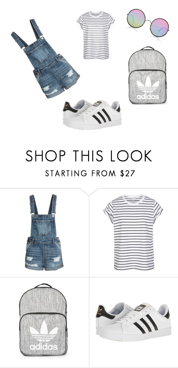"""nkjn"" by heddastoltnielsen on Polyvore featuring Topshop, adidas and Sunday Somewhere"