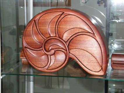 Bandsaw box created in red cedar by the top box maker in Australia - every one of the segments is a drawer - www.artisansonthehill.com.au