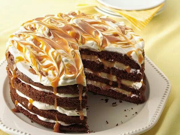 ... milk chocolate cake mix, vanilla buttercream and warm caramel sauce