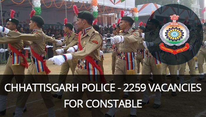 Chhattisgarh Police Recruitment, government jobs, police jobs