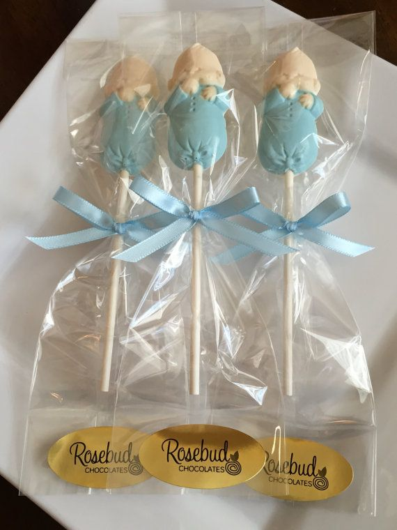 White Chocolate Infant Baby Boy Lollipop Baby Shower