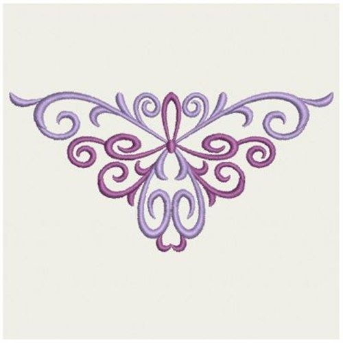 Wind Bell Embroidery Embroidery Design: Simple Scrolls 1.88 inches H x 3.81 inches W