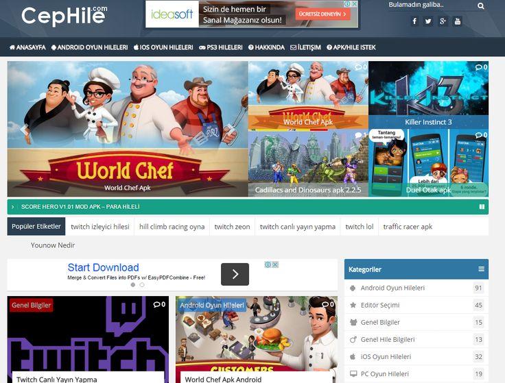 www.cephile.com android oyun hileleri, iOS oyun hileleri , En güncel hile sitesi