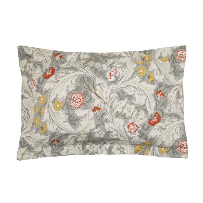 William Morris Leicester Bedding Grey Bedeck Home Grey Bedding Embroidered Cushions King Size Duvet