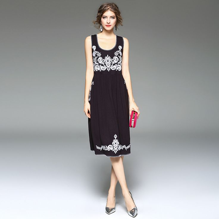 >> Click to Buy << High Quality 2017 Summer Dress Women's Embroidered Boho Floral Sexy Evening Party Casual Slim Ukraine Women Beach Black Dresses #Affiliate