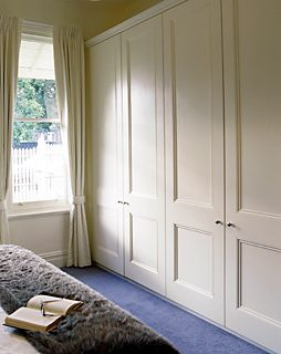 How to pick between sliding front door wardrobes over hinged front door wardrobes built in Master bedroom ensuite and wardrobe