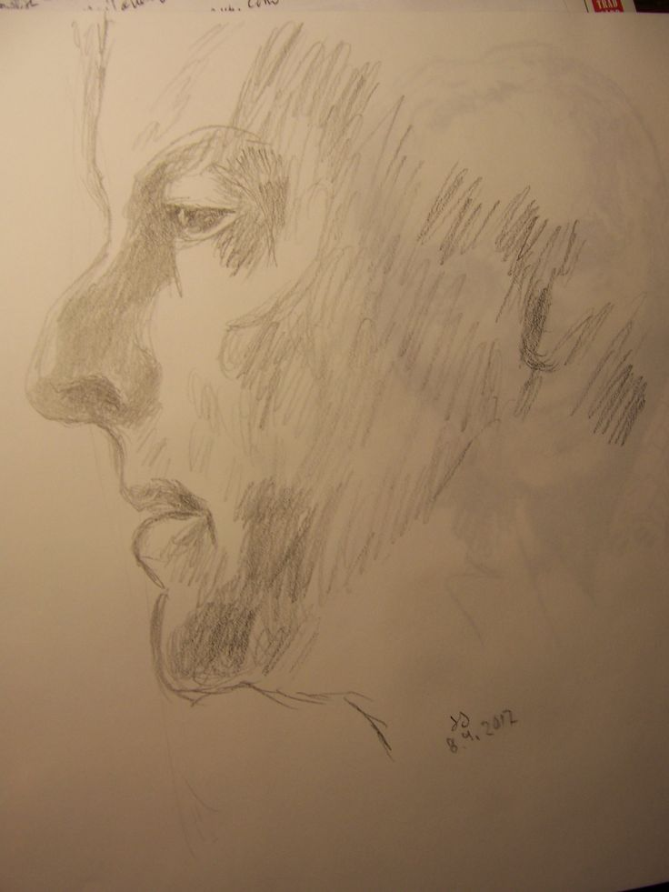 A pencil sketch of Tuure Kilpeläinen, 18.9.2017 By SJ