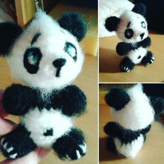 Amigurumi crochet toy handmade mywork panda