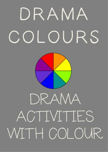 Drama COLORS Drama Cards + Drama Activities with Color