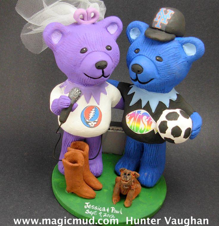 Singing Bride Bear Wedding Cake Topper http://www.magicmud.com   1 800 231 9814  magicmud@magicmud.com  $235   https://twitter.com/caketoppers         https://www.facebook.com/PersonalizedWeddingCakeToppers   #wedding #cake #toppers #custom #personalized #Groom #bride #anniversary #birthday#weddingcaketoppers#cake-toppers#figurine#gift#wedding-cake-toppers  #soccer#soccerPlayer#soccerBride#FIFA#football