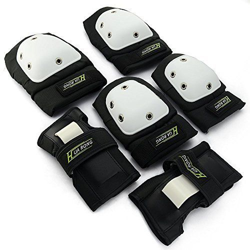 Allnice 3 in 1 Knee Pads Elbow Pads and Wrist Pads Protective Gear Thicken Blading Pads Safety Guards for Skateboard BMX Bike Cycling Inline Roller Skating Outdoor Sports ** Check out the image by visiting the link.