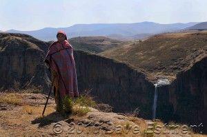 LESOTHO SHEPHERD - Maletsunyane Falls, Semonkong, Lesotho
