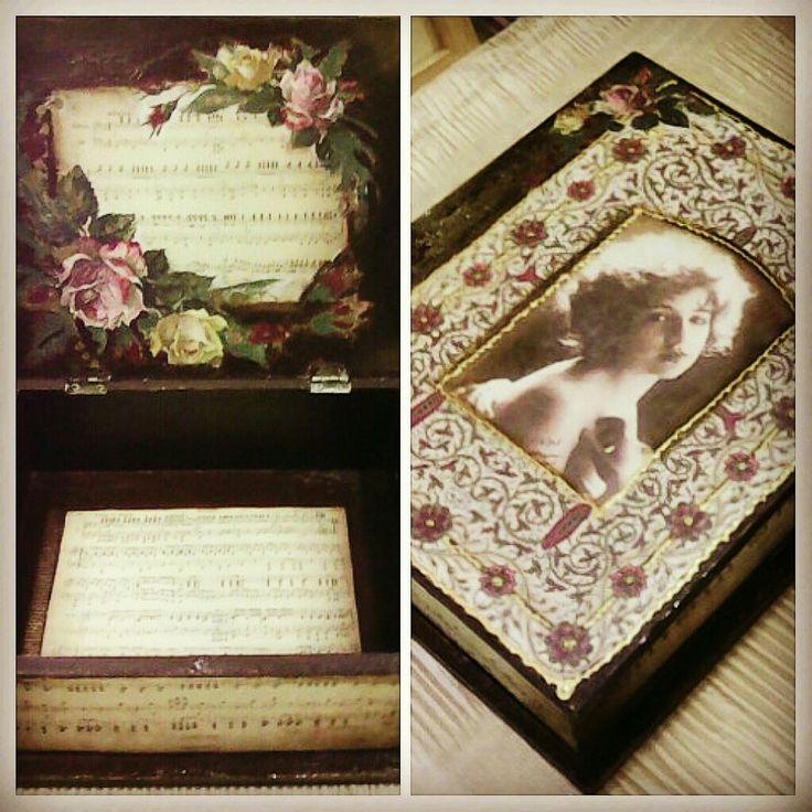 Ξύλινο κουτί vintage style 🎆🎆🎇