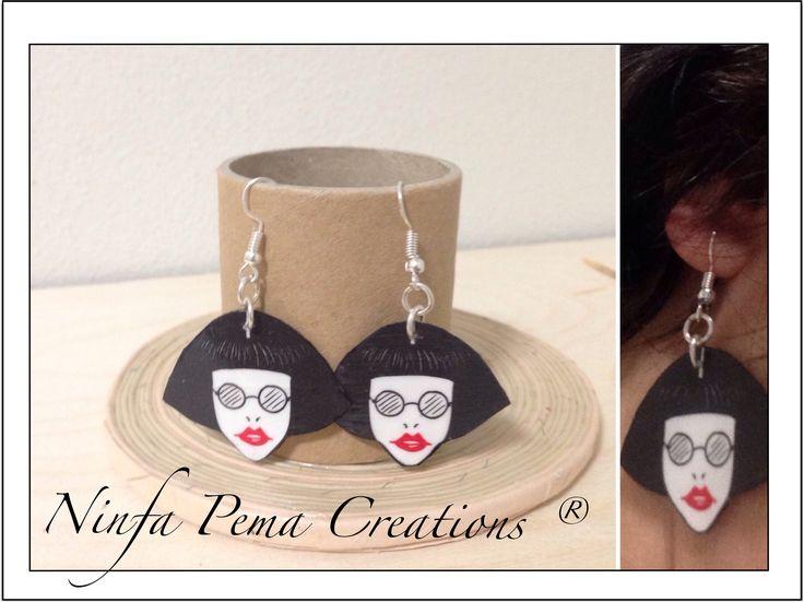 Paper earrings by Ninfa Pema Creations. Diy paperart papereco