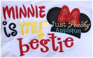 Vacation Bestie Mouse Saying Machine by JustPeachyApplique on Etsy, $4.00