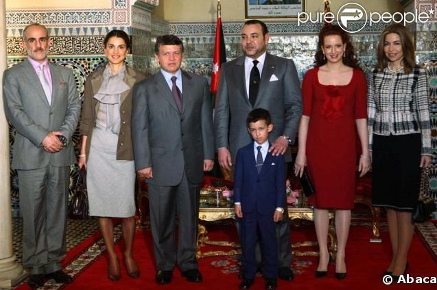 Rania de Jordanie au Palais Royal du Maroc avec son époux et le ...
