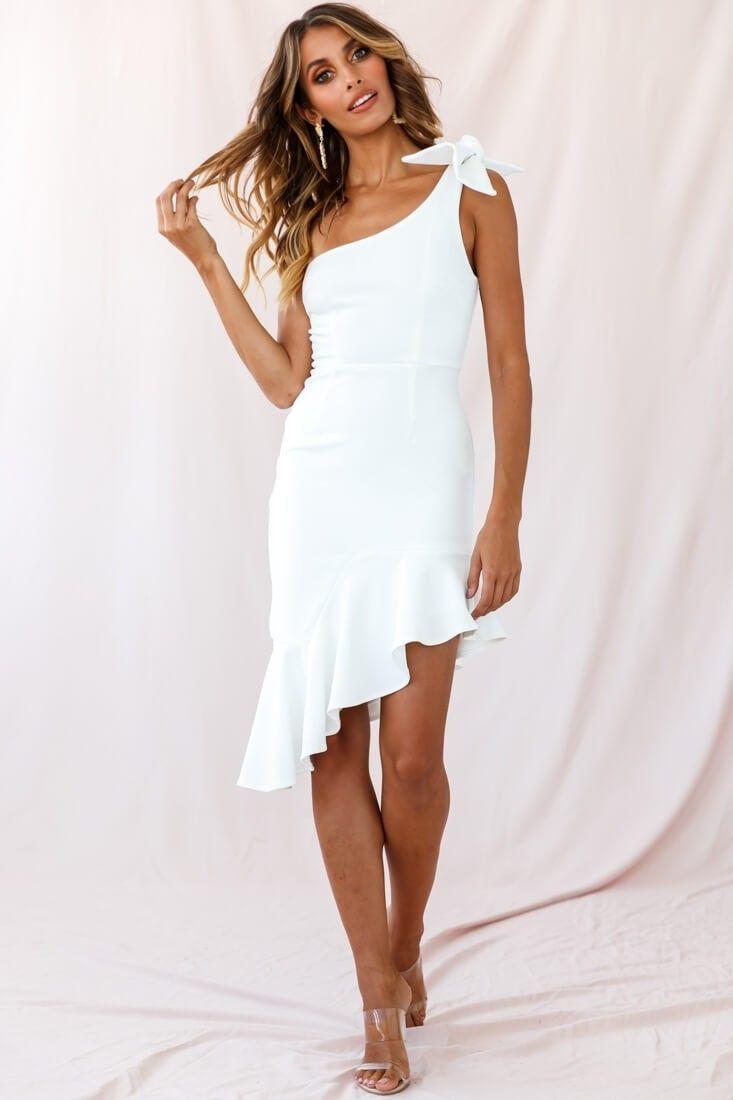 31++ One shoulder white dress information