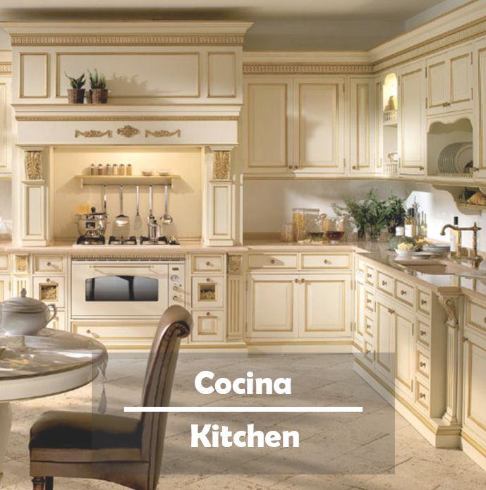 Arquitectura de cocinas de cine. Descubre nuestras cocinas clásicas artesanales de alta decoración en nuestro catálogo web.