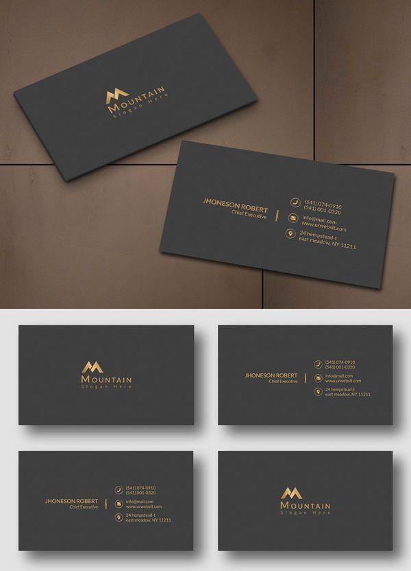Executive Business Card Business Card Executive Business Card Design Simple Graphic Design Business Card Business Card Design Minimal