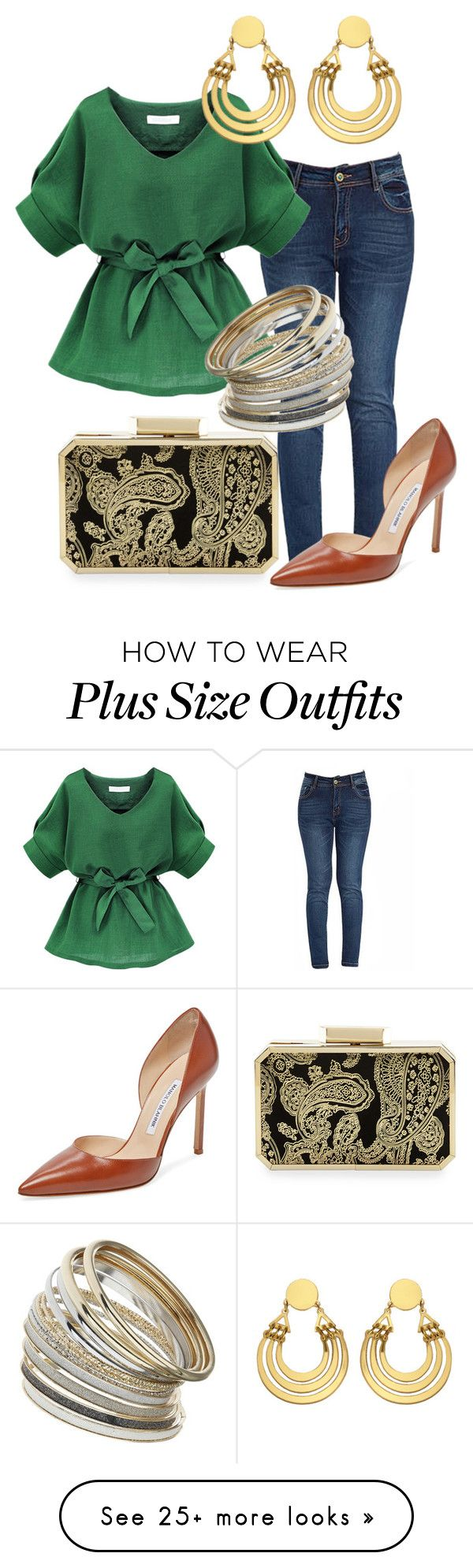 """New York Avenue"" by sevenspringswellness on Polyvore featuring Badgley Mischka, Miss Selfridge, Manolo Blahnik, women's clothing, women, female, woman, misses and juniors"
