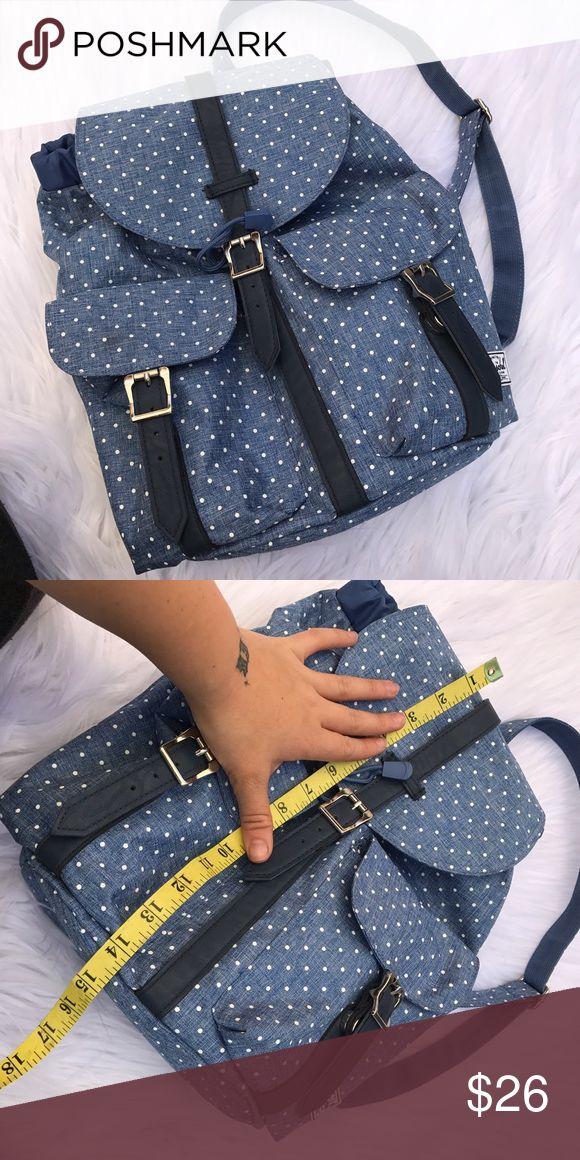 HERSHEL POLKA DOT BACKPACK PURSE Cute great condition Hershel Bags