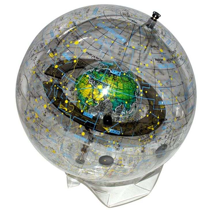 Transparent World Globe by Robert Farquhar 1970u0027s
